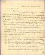 Letter from Robert Waln Jr. to Samuel Sitgreaves