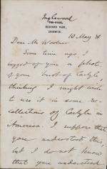 Letter from Moncure Conway to Mr. Woolner