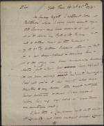 Letter from Thomas Hartley to William Irvine