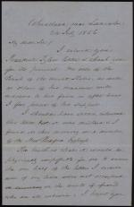 Letter from James Buchanan to John Cunningham