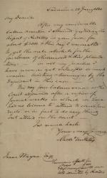 Letter to Isaac Wayne from Unknown Author