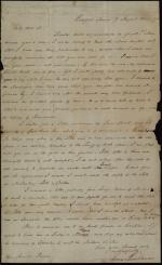 Letter from James Buchanan to Arnold Plumer