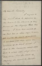 Letter from James Buchanan to Sir Edward Curt