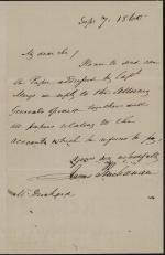 Letter from James Buchanan to William Drinkard