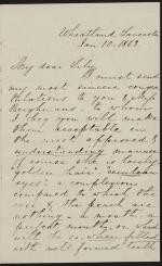Letter from Harriet Lane to Lily Macalester