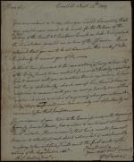 Letter from William Irvine to Alexander Dallas