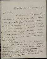 Letter from James Buchanan to New York City Burns Club