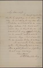 Letter from Hiester H. Muhlenberg to Catharine Muhlenberg