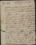 Letter from William Irvine to David Grier