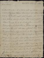 Letter from William Irvine to Richard Butler