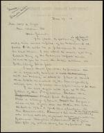 Draft of Letter from Horatio Collins King to William Taft