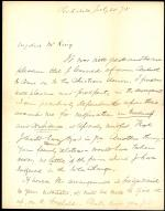 Letter from Henry Beecher to Horatio Collins King
