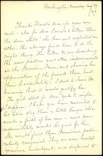 Letter from Susan Howard to Horatio Collins King