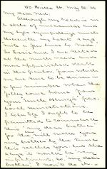 Letter from Horatio Collins King to Edward Howard