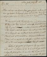 Letter from William Irvine to Robert Magaw