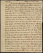 Letter from Charles Nisbet to Alexander Nisbet