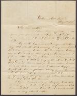 Letter from Samuel Reynolds to His Mother