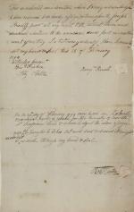 "Transfer of ""Annexed Deed Poll"" from Benjamin Rush to Joseph Priestley, Jr."