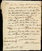Letter from John Thompson to James Hamilton