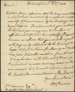 Letter from William Irvine to William Simmons
