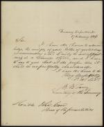 Letter from Roger B. Taney to John Carr