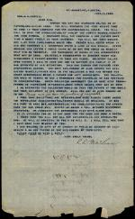 Letter from C. C. McLean to Andrew Curtin