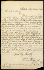 Letter from James Noon to Andrew Curtin
