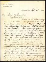 Letter from David Fortney to Samuel Randall