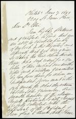 Letter from Charles Stille to George Ellis