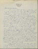 Letter from William Vastine to Dr. Hartman