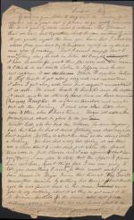 Letter from Christian Humrich to Samuel Davis (Draft)