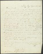 Letter from John Thropp Jr. to Christian Humrich