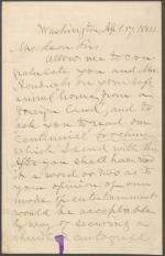 Letter from Horatio King to Thomas Hendricks