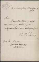 Letter from Roger B. Taney to D. Adams