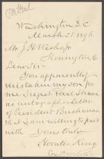 Letter from Horatio King to J. H. Weeks, Jr.