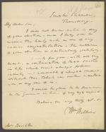Letter from William Wilkins to Mr. Buckler