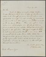 Letter from David Wilmot to Reah Frazer