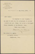 Letter from Horatio Collins King to Mrs. Albert Smith