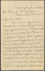 Letter from Horatio King to Donald Dickinson