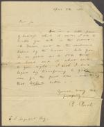 Letter from Richard Rush to E. Sergeant