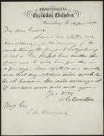 Letter from Andrew Curtin to Samuel Crawford