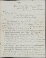Letter from Andrew Gregg Curtin to R. Butler Price (Copy)