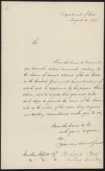 Letter from Richard Rush to Jonathan Russell