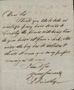 Letter from Joseph Priestley to Rev. Mr. Kell