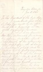 Letter from William Wright to James Buchanan