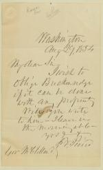Letter from Franklin Pierce to Robert McClelland