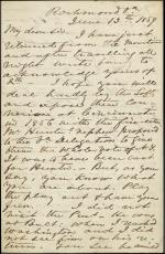 Letter from Henry Wise to Unknown Recipient