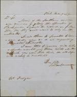 Letter from Simon Cameron to Reah Frazer