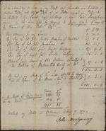 Receipt for Militia Account between Jasper Yates and the Continental Congress
