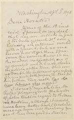 Letter from Horatio King to Horatio Collins King